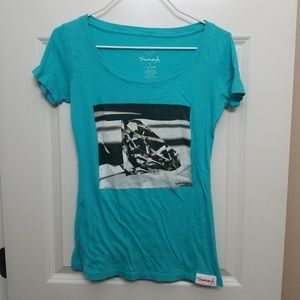 Diamond Supply Co. T-shirt, Size S, Turquoise.